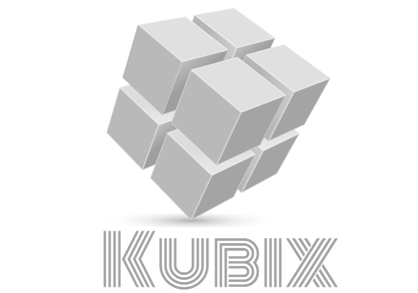 kubix clear back 2x2-25pc